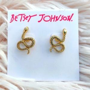 Betsey Johnson Snake Earrings